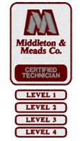 Middleton & Meads, Co. Certified Technician Levels Logo